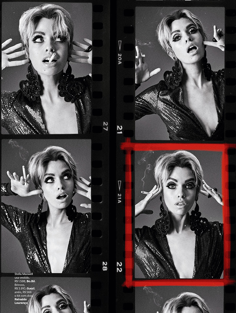 Stella Maxwell Channels Edie Sedgwick for Vogue Brazil