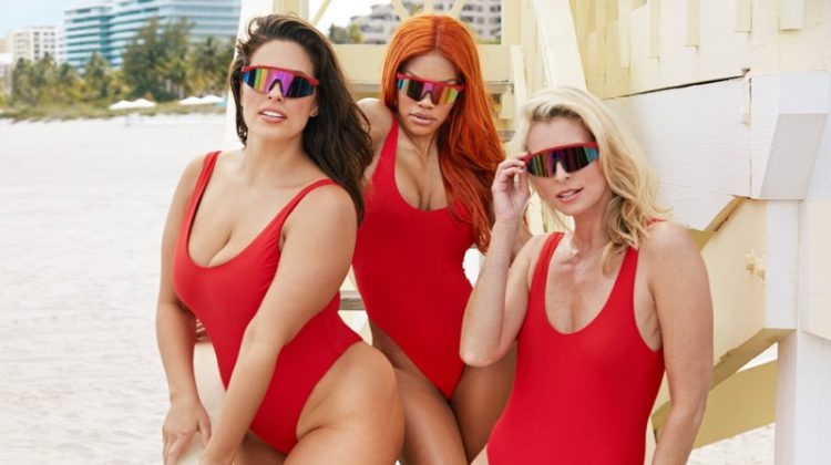 Swimsuits For All taps Ashley Graham, Teyana Taylor and Niki Taylor for Baywatch campaign
