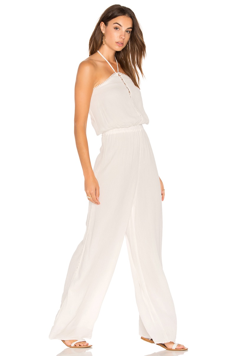The Golden Island Jumpsuit works well for the summer season