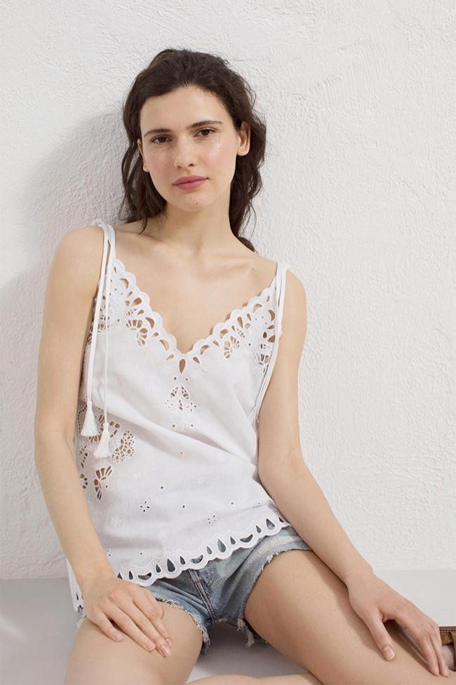 Theory Placed Eyelet Top $295