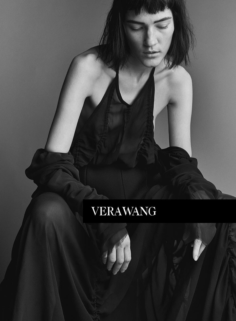Liene Podina fronts Vera Wang's spring 2017 campaign