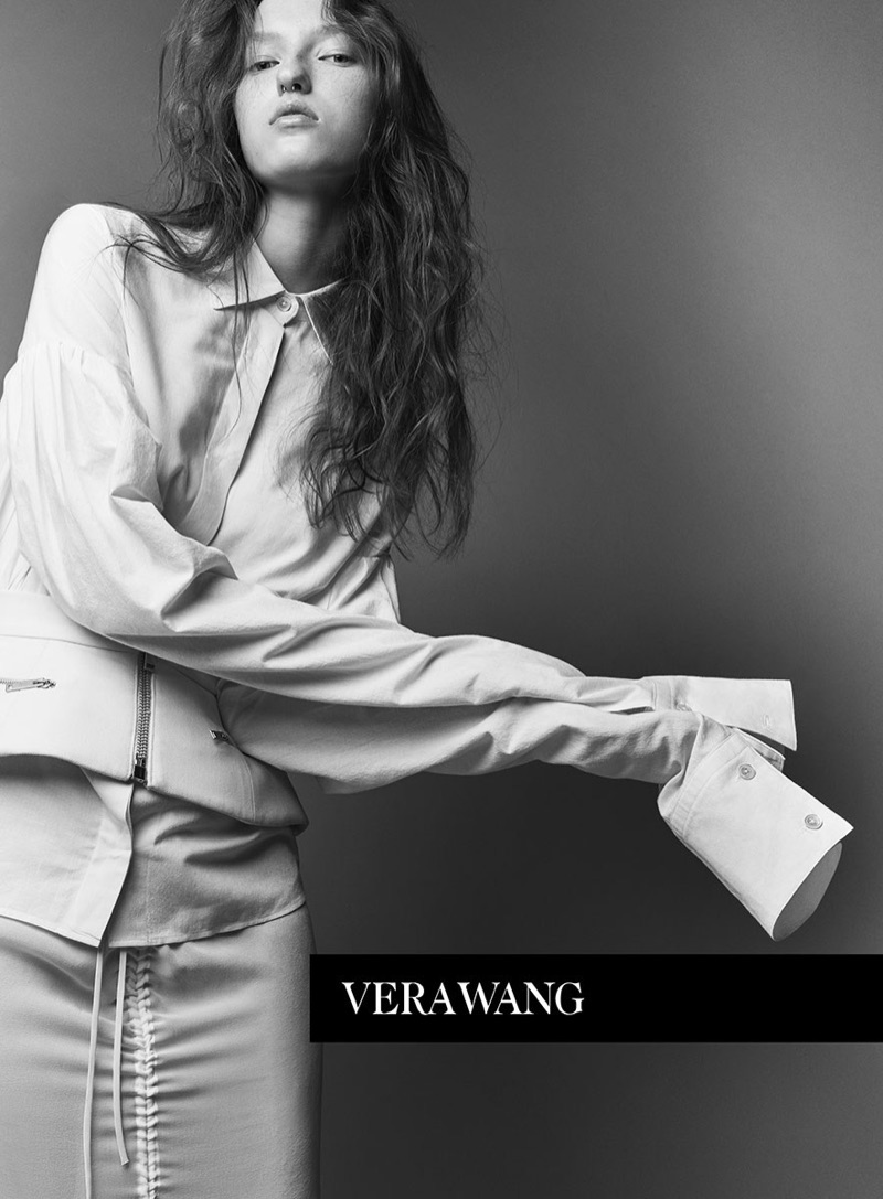 An image from Vera Wang's spring 2017 advertising campaign
