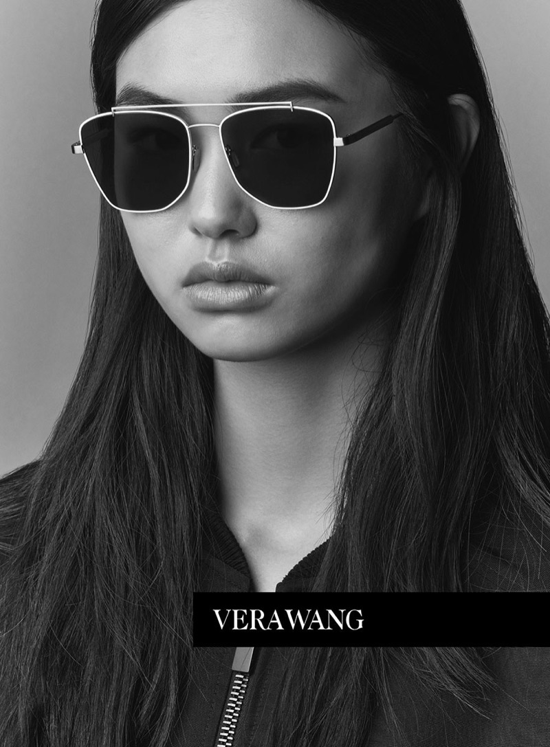 Estelle Chen appears in Vera Wang's spring 2017 Eyewear campaign