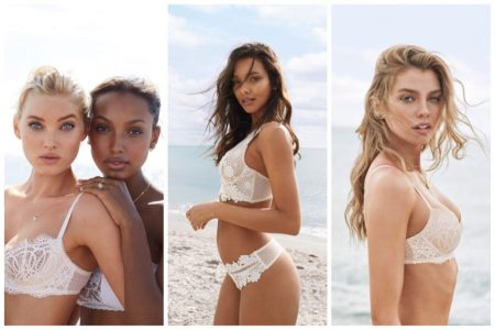 Victoria's Secret Angels Pose at the Beach in White-Hot Summer Styles