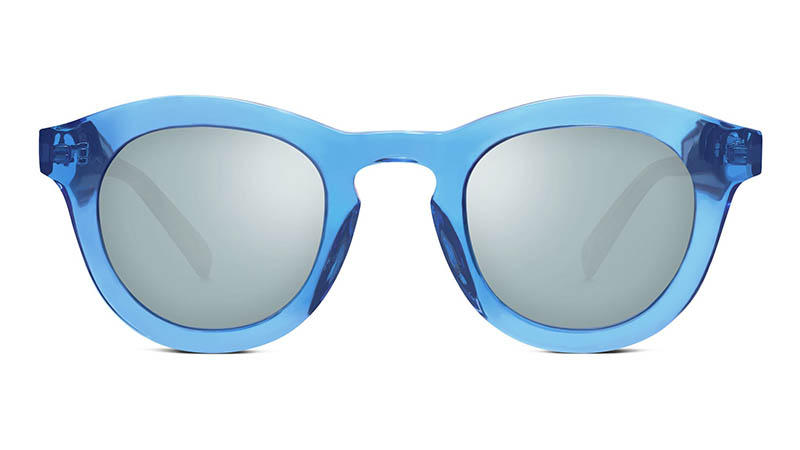 Warby Parker x Robert Rauschenberg Roci Sunglasses in Cerulean Crystal $95