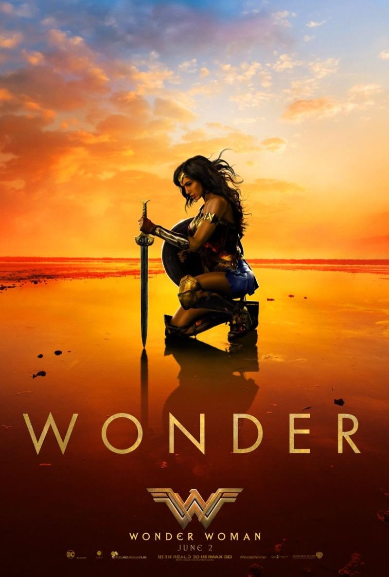 Wonder Woman movie poster featuring actress Gal Gadot