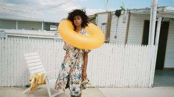 Imaan Hammam Models Zara's Beach Ready Styles