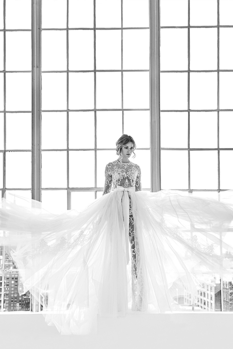Dona dress with overskirt from Zuhair Murad Bridal's spring-summer 2018 collection