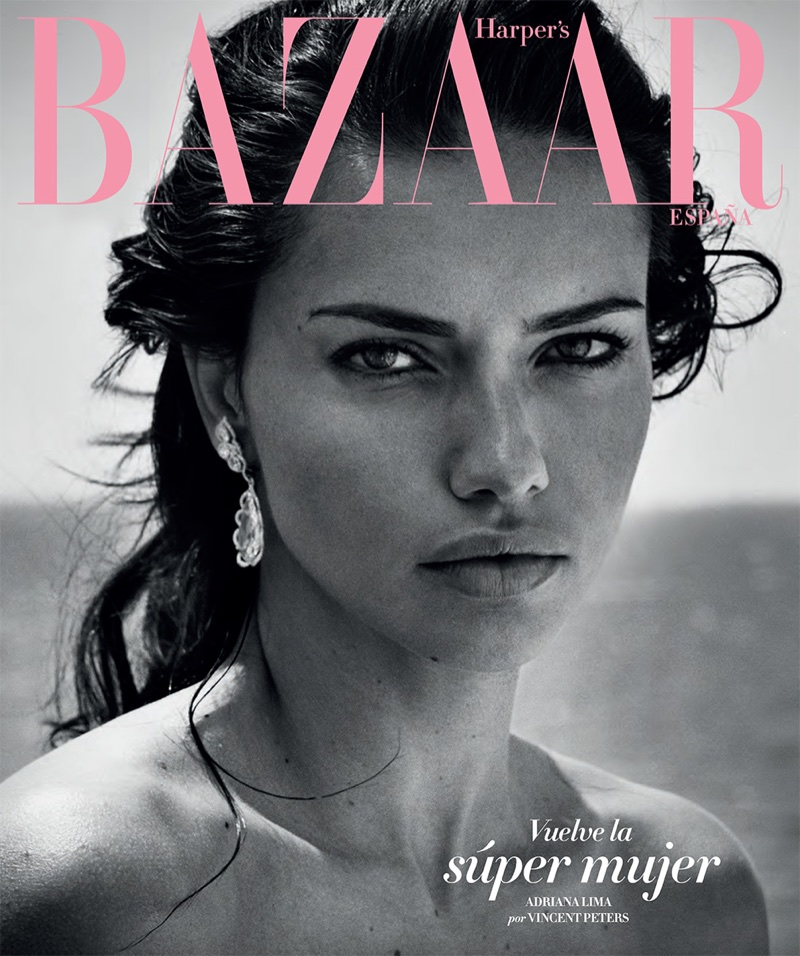 Supermodel Adriana Lima covers Harper's Bazaar Spain July 2017