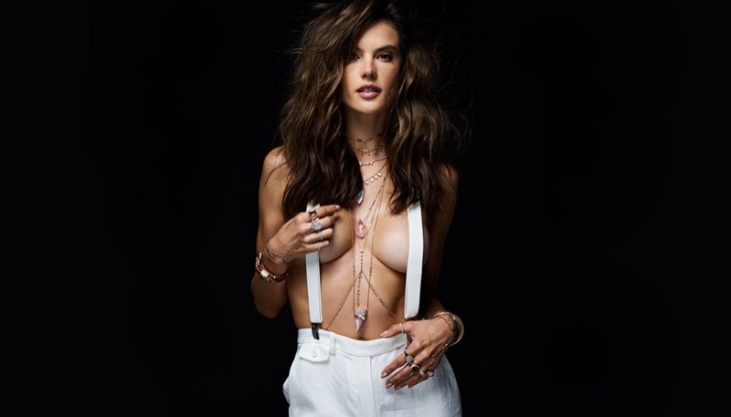 Looking smoking hot, Alessandra Ambrosio strips down for Jacquie Aiche summer 2017 campaign