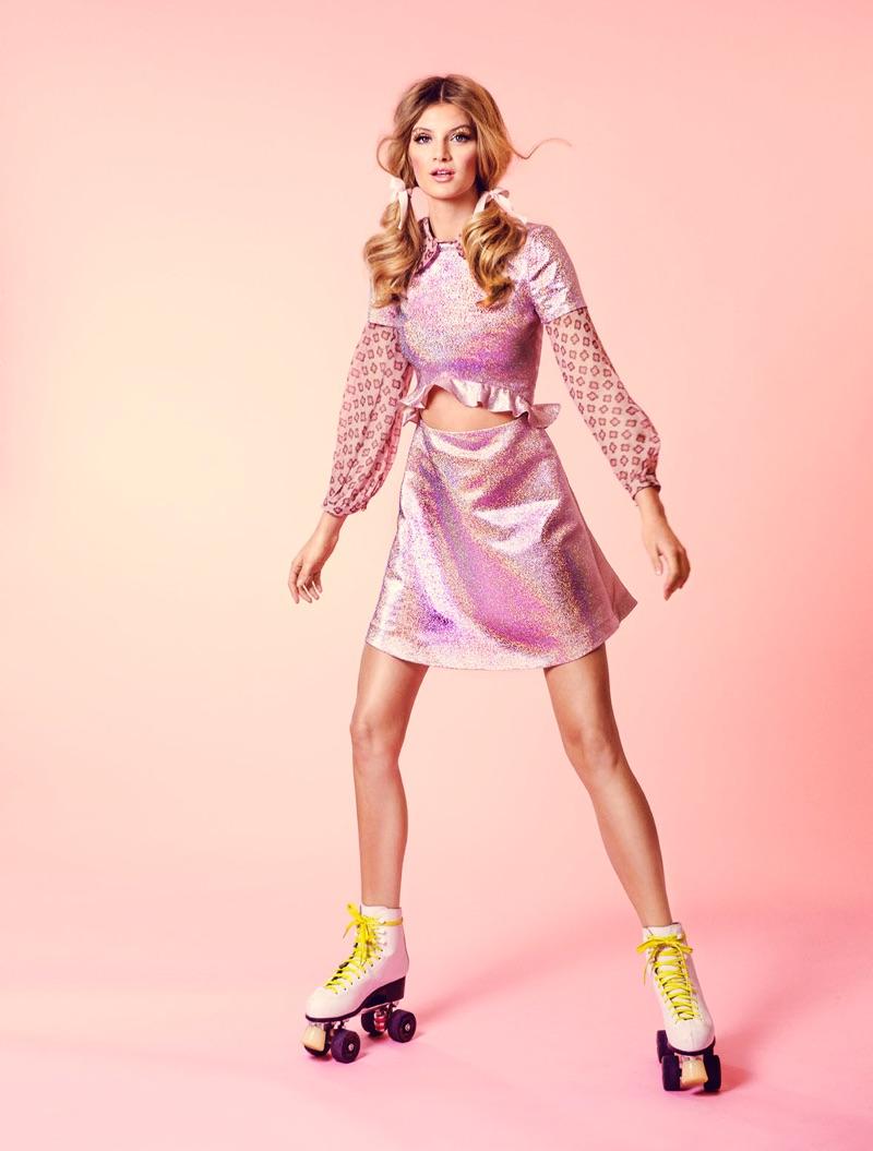 Anne Sofie List Wears Sporty Glam Styles for ELLE Denmark