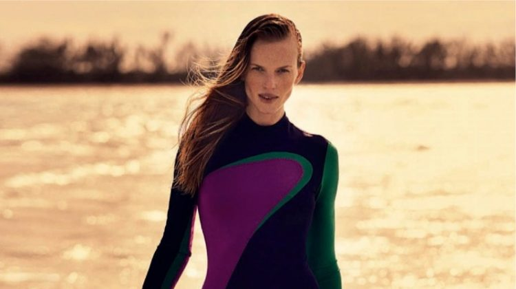 Anne Vyalitsyna Channels Her Inner Bond Girl in ELLE Italy