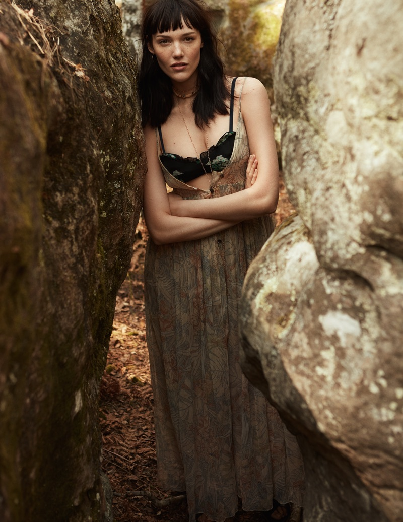 Anya Lyagoshina Heads Outdoors in Folk Style for ELLE France