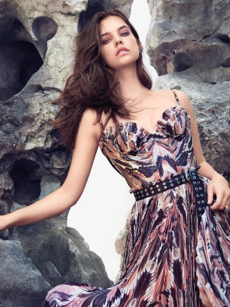 Barbara Palvin Models Glam Summertime Fashion in Harper's Bazaar Greece