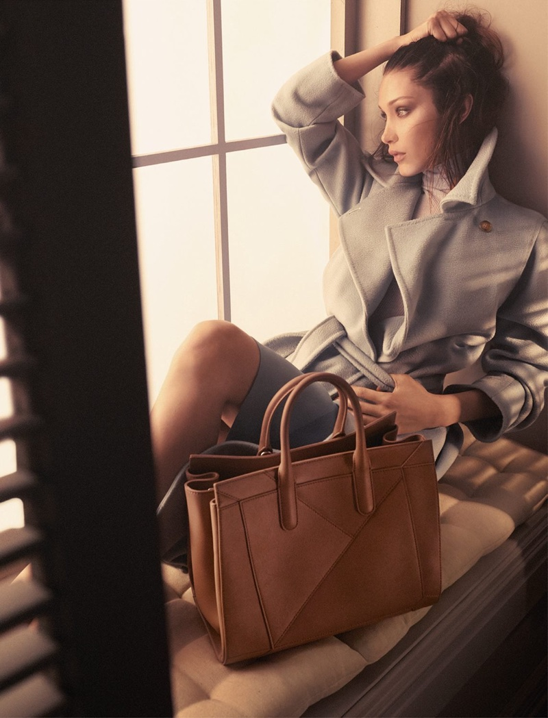 Bella Hadid is the new face of Max Mara's fall-winter 2017 Accessories campaign