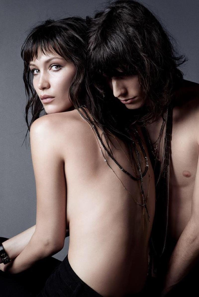 Model Bella Hadid goes topless for NARS Cosmetics