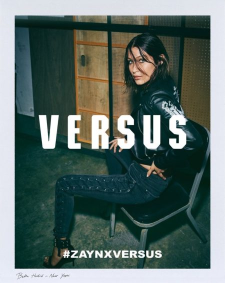 Versus Versace unveils its collaboration with Zayn Malik, modeled by Bella Hadid