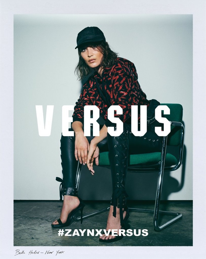 Bella Hadid channels rock and roll style for Versus Versace by Zayn Malik