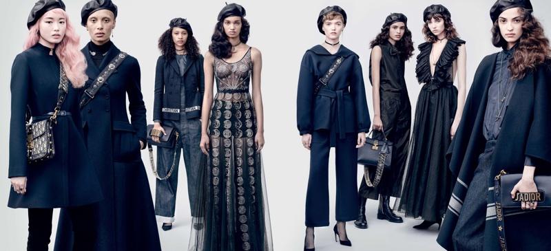 Fernanda Ly, Adwoa Aboah, Selena Forrest, Ellen Rosa, Ruth Bell, Grace Hartzel, Aira Ferreira and Camille Hurel star in Dior's fall-winter 2017 campaign