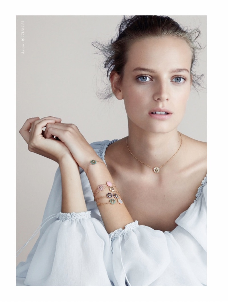 Ine Neefs sparkles in a Dior Jewelry campaign for 2017