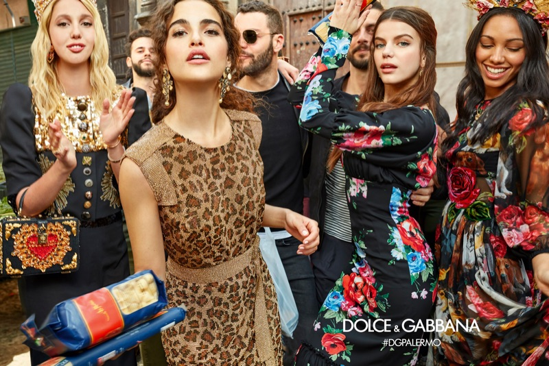 Olympia of Greece, Chiara Scelsi, Sonia Ben Ammar and Corinne Foxx appear in Dolce & Gabbana's fall-winter 2017 campaign