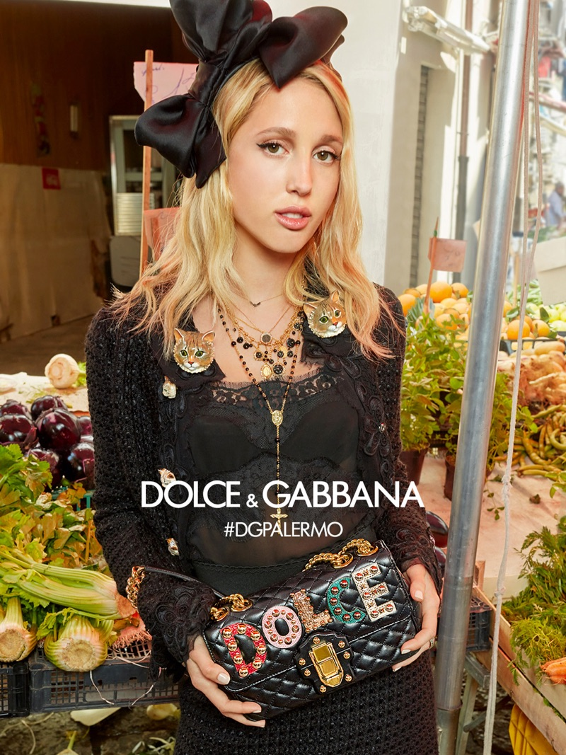 Olympia of Greece stars in Dolce & Gabbana's fall-winter 2017 campaign