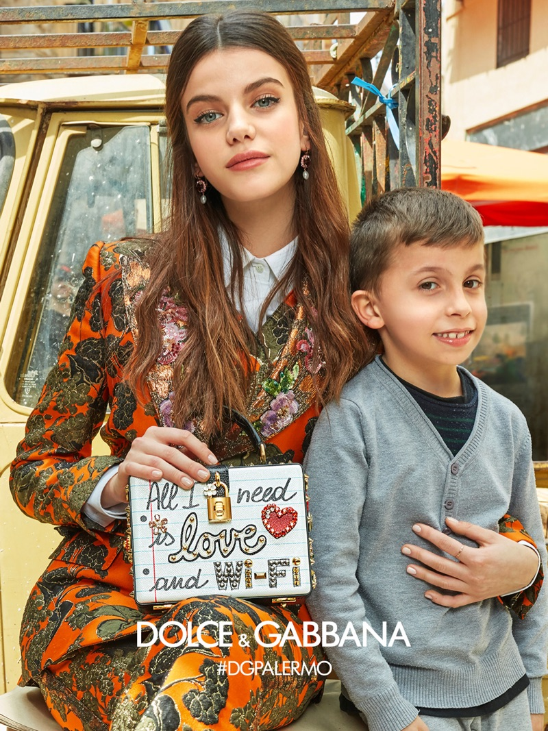 Sonia Ben Ammar fronts Dolce & Gabbana's fall-winter 2017 campaign