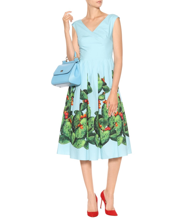Dolce Gabbana Printed Cotton Dress $1,575