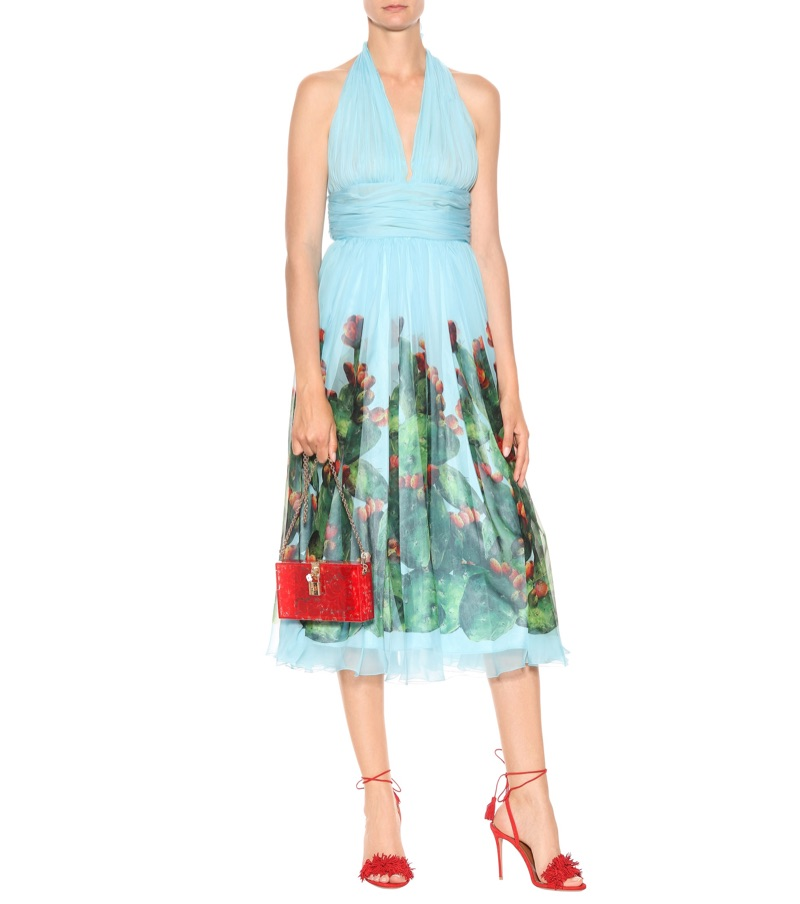 Dolce & Gabbana Printed Silk Dress $3,995
