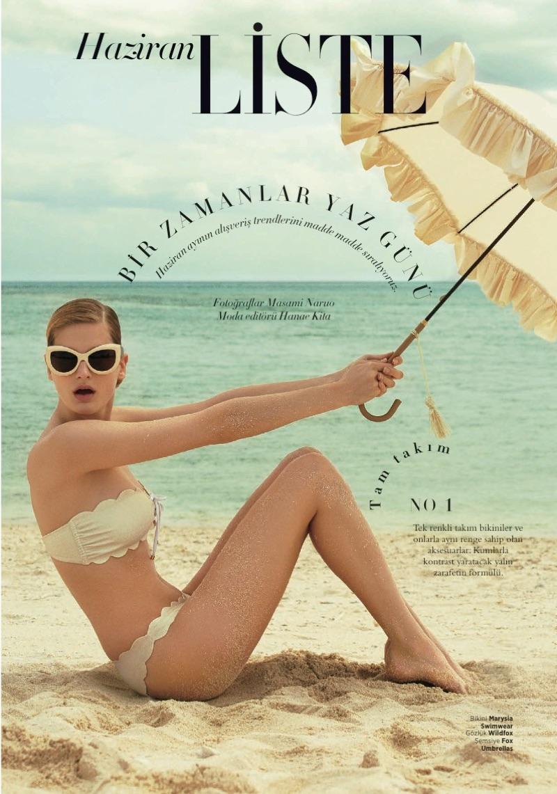 Dora Stastna stars in Harper's Bazaar Turkey's June issue