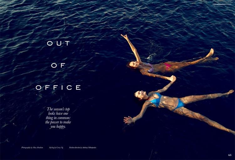 Michaela Kocianova & Fred Dive Into Beach Season for ELLE Canada