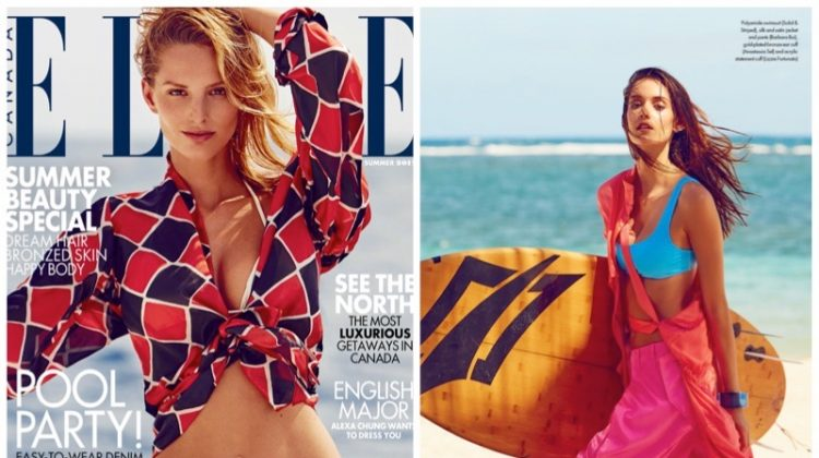 Michaela Kocianova & Fred Dive Into Beach Season for ELLE Canada