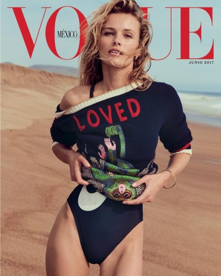 Edita Vilkeviciute is a Beach Goddess in Vogue Mexico