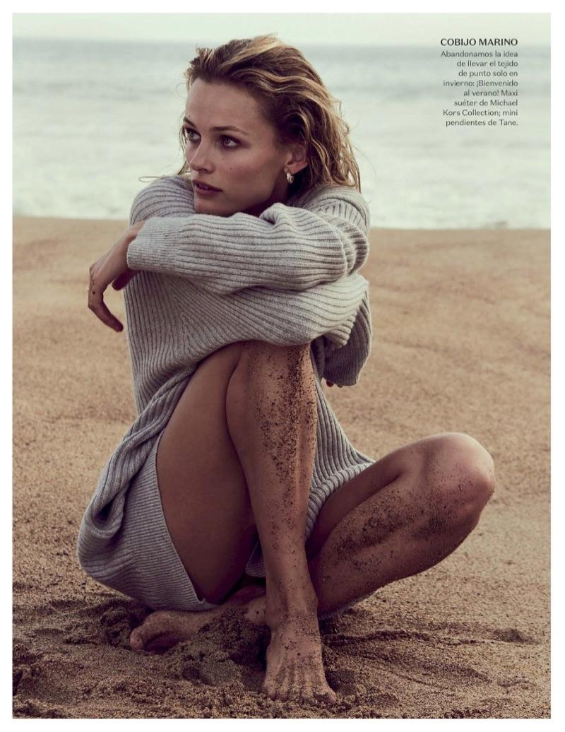 Edita Vilkeviciute is a Beach Goddess in Vogue Mexico