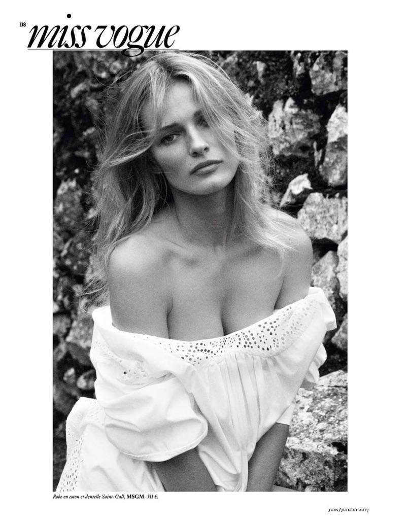 Edita Vilkeviciute stars in Vogue Paris' June-July issue