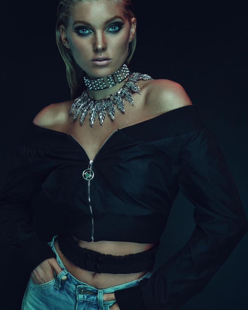 Elsa Hosk stars in Fallon x The Mummy jewelry campaign