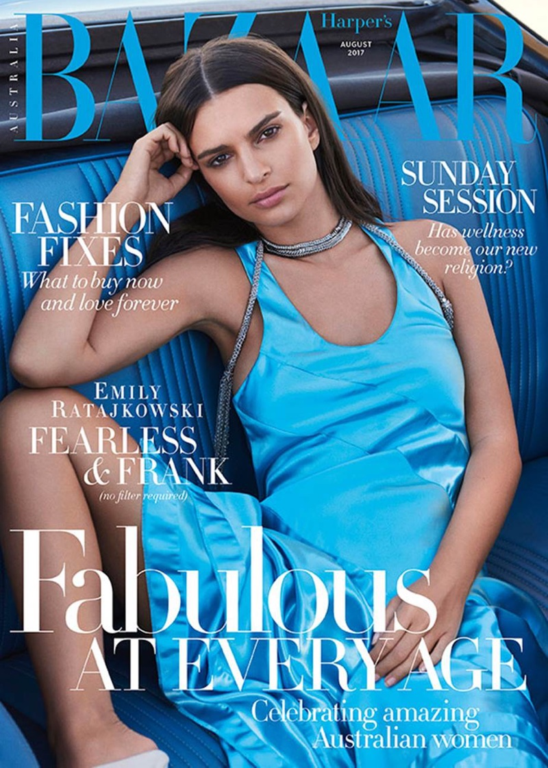Emily Ratajkowski on Harper's Bazaar Australia August 2017 Cover