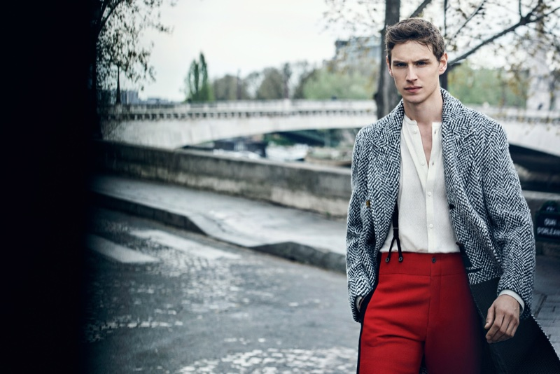 Victor Norlander appears in Ermanno Scervino's fall 2017 campaign