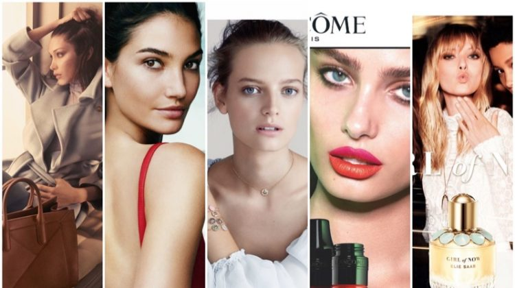 Catch up with the latest campaigns from Carolina Herrera, Max Mara, Lancome and more