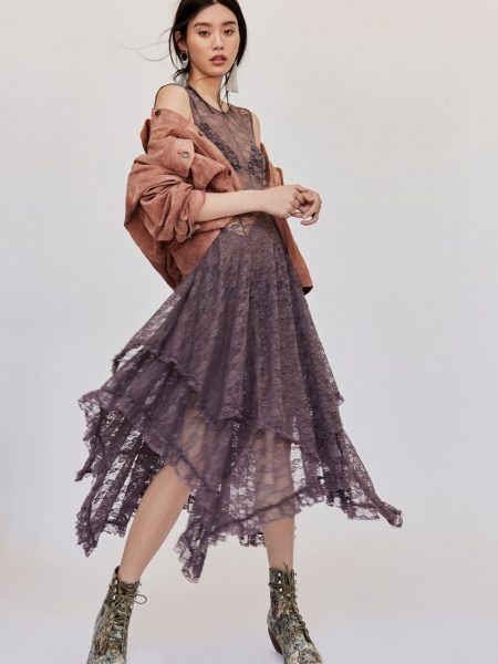 Ming Xi Wears Free People's Boho Chic Looks