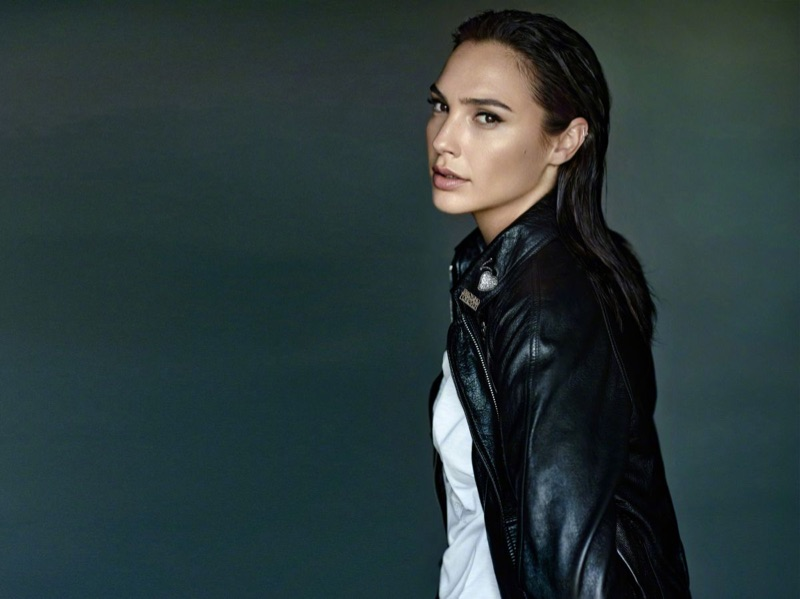 Gal Gadot serves cool vibes in a leather jacket