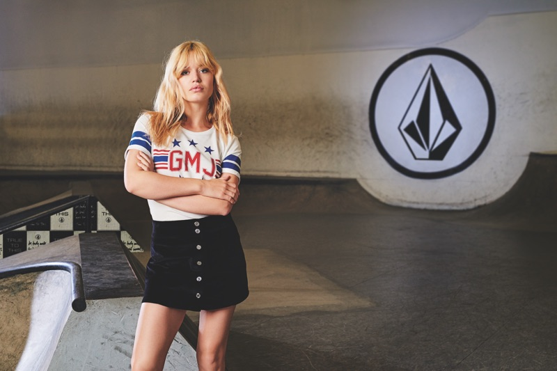 Georgia May Jagger Designs Cool Girl Looks for Volcom