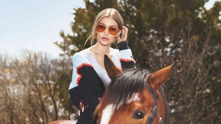 Gigi Hadid stars in Vogue Eyewear campaign