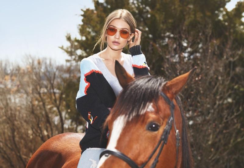 Gigi Hadid Keeps It Casual in Vogue Eyewear Campaign