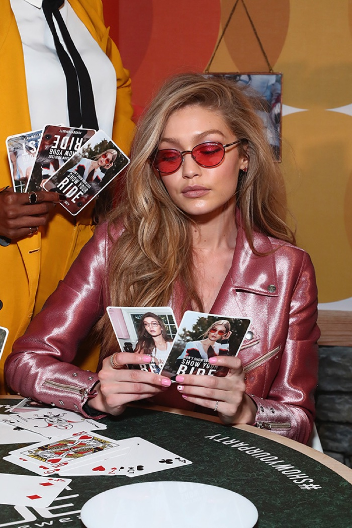 Gigi Hadid strikes a pose at her Vogue Eyewear Collection launch. Photo: Getty Images
