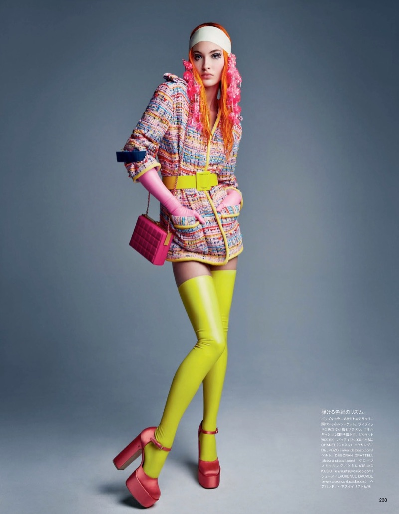 Grace Elizabeth is a Modern Day Pin-Up in Vogue Japan