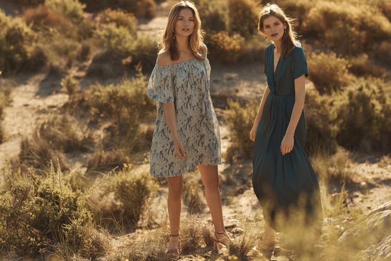 (Left) H&M Silk-Blend Dress (Right) H&M Long Satin Dress