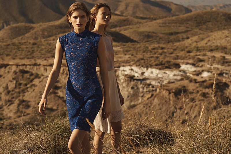 (Left) H&M Lace Dress (Right) H&M Short-Sleeved Silk Blouse and Skirt