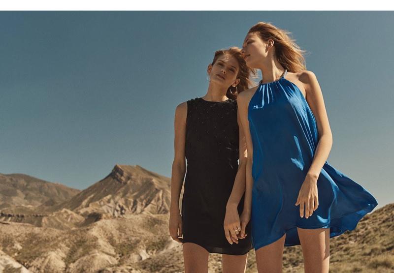 (Left) H&M Dress (Right) H&M Satin Dress with Studs