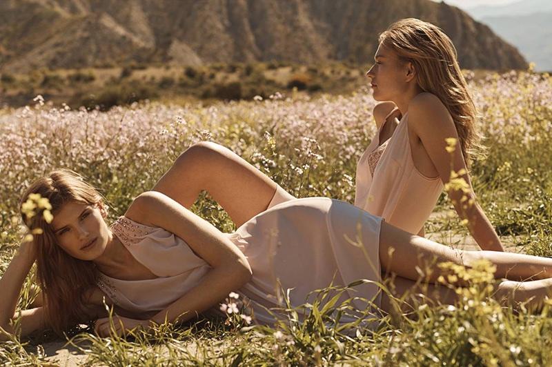 (Left) H&M Crêped Chiffon Dress (Right) H&M Slip-Style Dress
